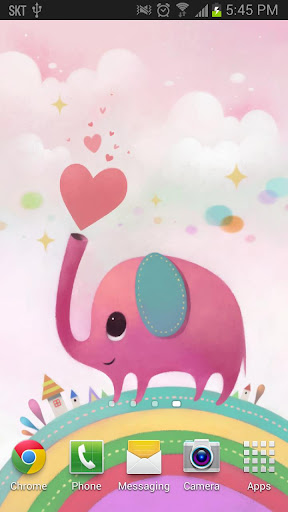 玩個人化App Pink Elephant - Live Wallpaper免費 APP試玩