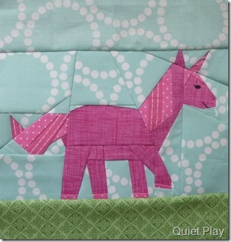 Paper Pieced Pink Unicorn