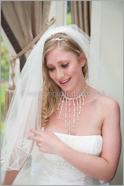 beautiful bride at Landmark Hotel Dundee