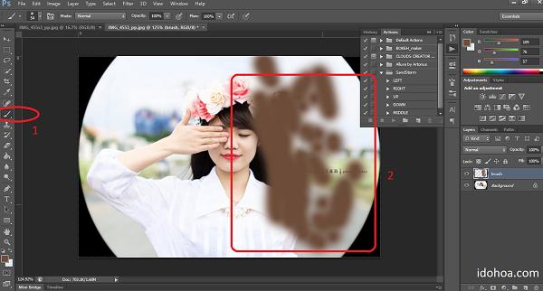Hiệu ứng tan biến trong Photoshop - Action