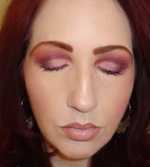 radiant orchid face eyes closed