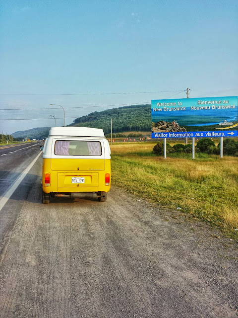 T2 Westfalia arriving in New Brunswick