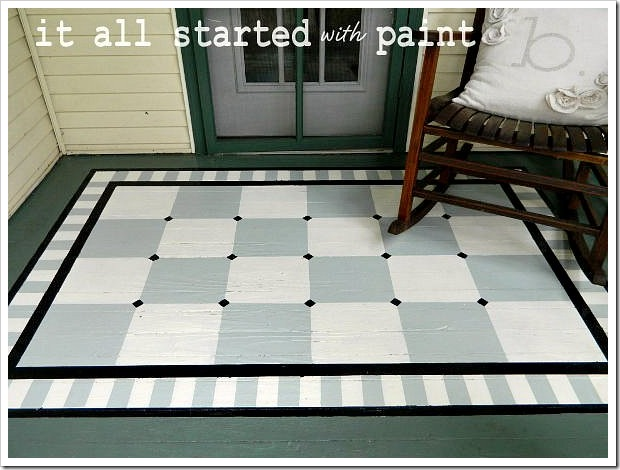 Painted Porch Rug Saving The Best For Last It All Started With
