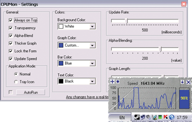 CPUMon: CPU Monitor Gadget
