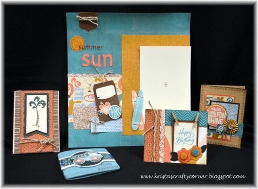 Surf's Up_5 pieces_Karen Morris swap