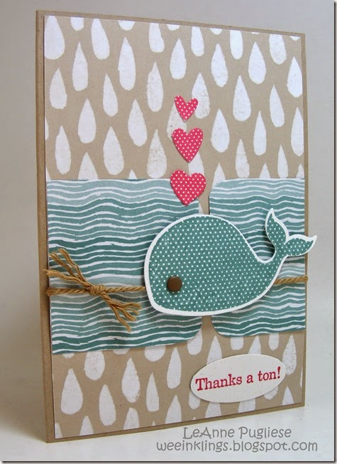 LeAnne Pugliese WeeInklings Oh Whale Thank You Stampin Up