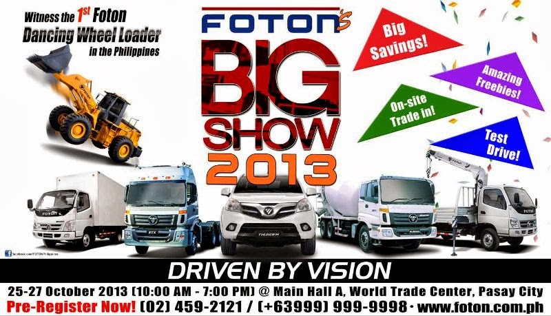 Test Drive New Cars at the FOTON Big Show 2013