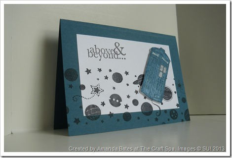 Amanda Bates, The Craft Spa, May 2013, Mens & Boys Class, Feeling Sentimental, Tardis Card (2)