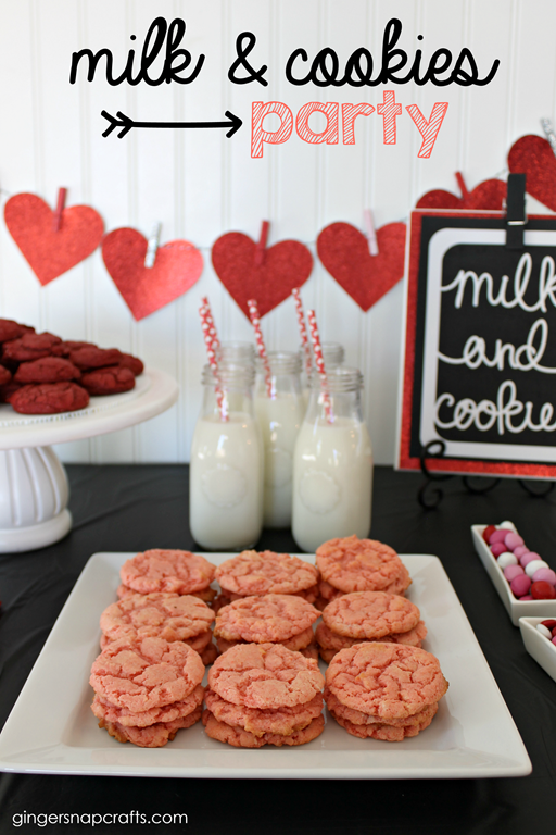 milk & cookies party at GingerSnapCrafts.com #targetonespot #targetvalentine