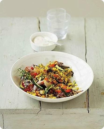 Cuscus vegetariano con salsa alla tahina
