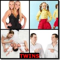 TWINS- 4 Pics 1 Word Answers 3 Letters