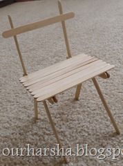 Popsicle sticks Chair (3)