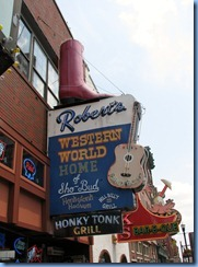 9659 Nashville, Tennessee - Discover Nashville Tour - downtown Nashville Broadway Street - Robert's Western World Honky Tonk Grill