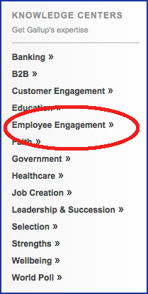 screenshot of Gallup showing 'Employee Engagement'