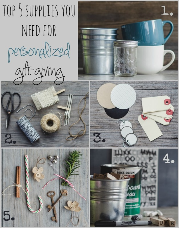List of Supplies for Easy Personalized Gift Giving | personallyandrea.com