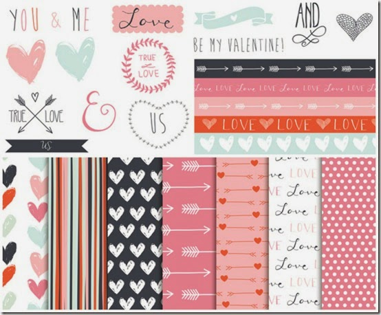 san valentino - carte tag gratis - free download valentine papers - scrapbooking 5