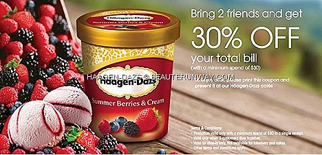 Haagen-dazs cafe outlets Summer Ice cream berries and cream offer promotion Clarke Quay, Wisma Atria,Centrepoint, siglap,