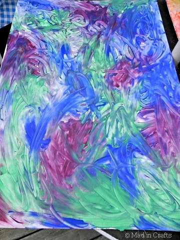 fingerpainting in cool colors