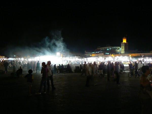 Imagini Marrakech: Jema el Fnaa noaptea
