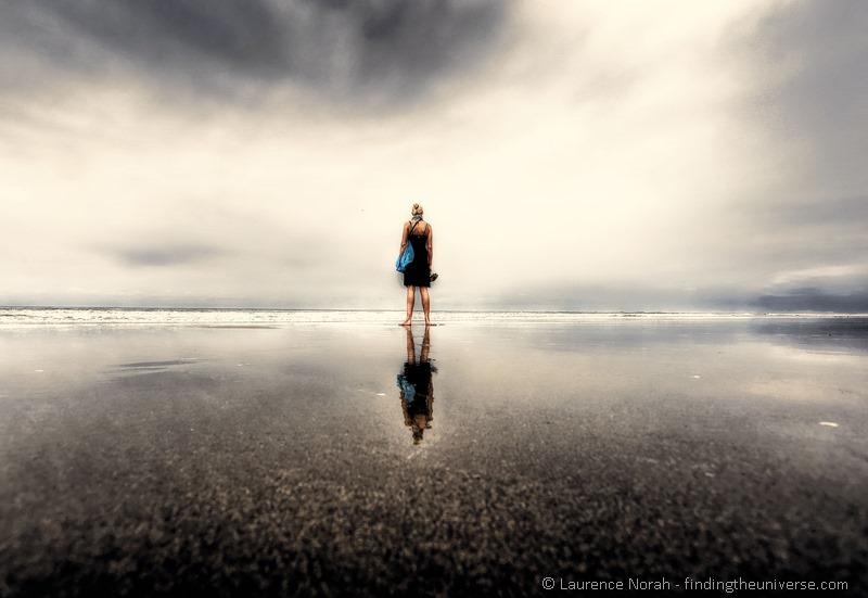 Vera reflected on beach montanita PPS