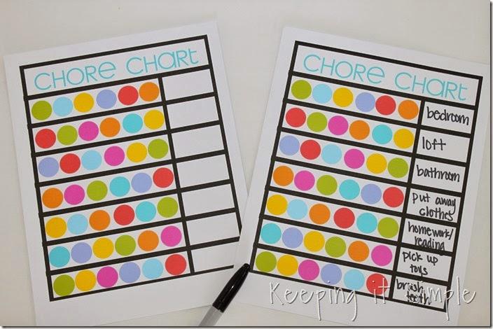 Super Easy Dry Erase Kids Chore Chart Printable Keeping It Simple