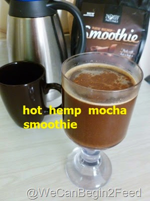 Hot Hemp Mocha Smoothie