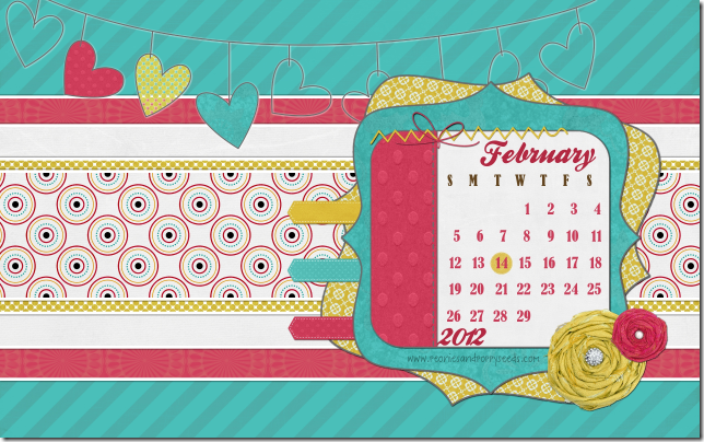 peoniesandpoppyseeds february 2012 desktop calendar screenshot
