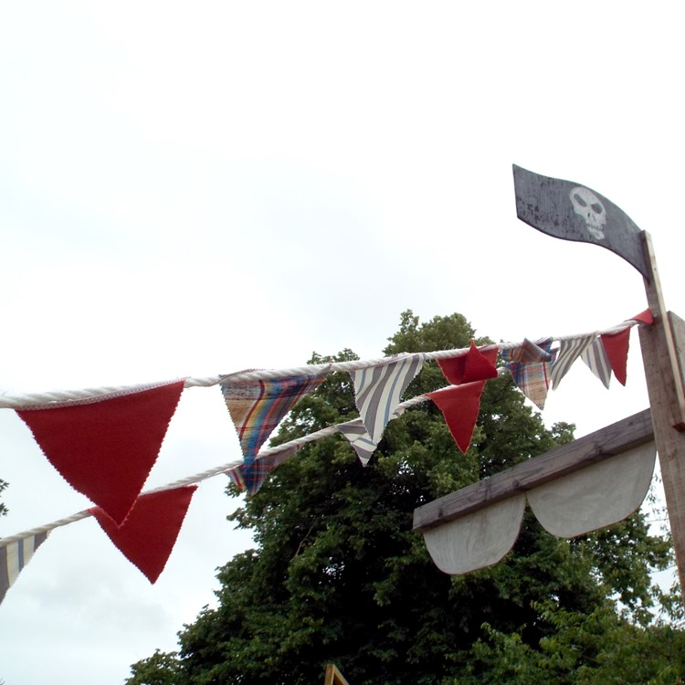 every pirate ship needs bunting