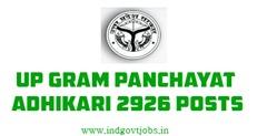 UP Gram Panchayat Adhikari 2926 vacancies