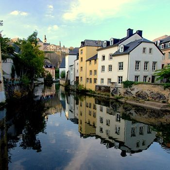 building reflections Luxembourg