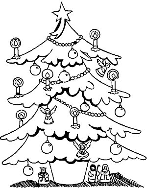 Desenhos Arvore De Natal Para Colorir