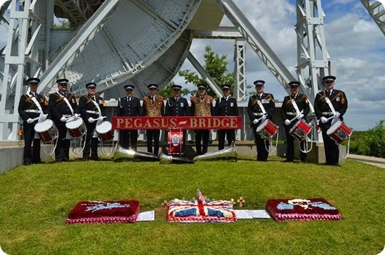 The Corps of Drums at Pegasus Bridge