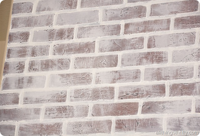 painting brick whiteTutorial How to paint brick to make it look old  All Things Thrifty