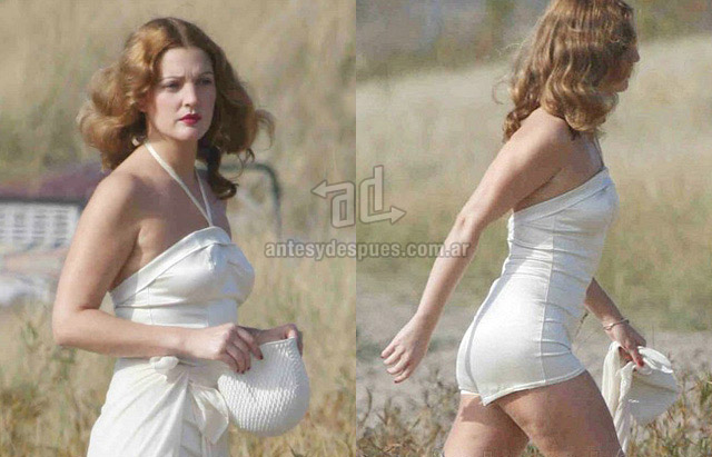 Cellulite of Drew Barrymore