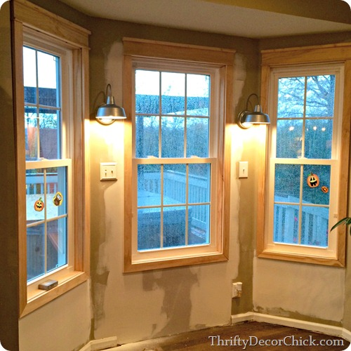 sconces in bay window