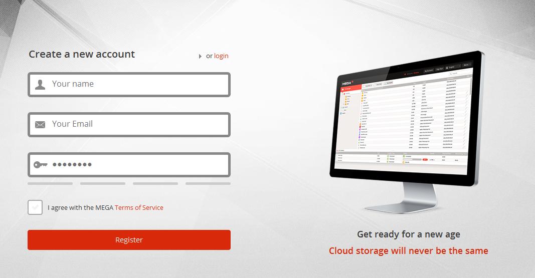 how to create an account using mega 50gb free storage