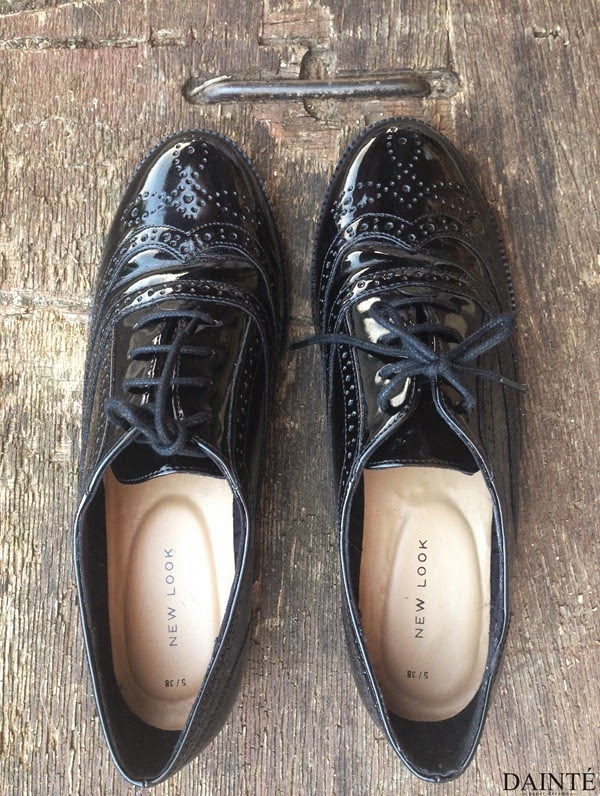 dainte blog shop asos new look black leather brogues oxfords shoes