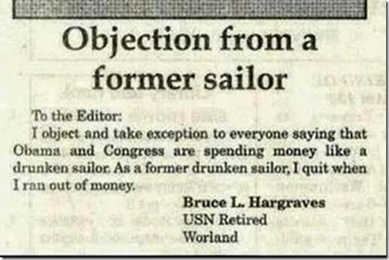 Spend like a drunken sailor