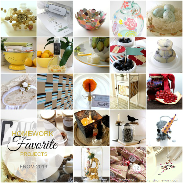 2013 Review - favorite projects via homework | carolynshomework.com