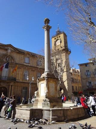 Fontaine de l'Hôtel de ville à Aix-en-Provence