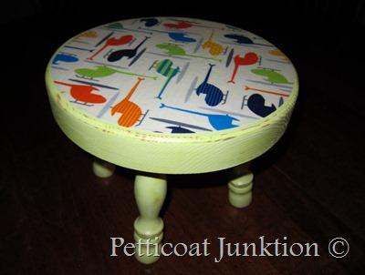 Marvelous Diy Decoupage Stool Ann Kelle Ann Kelle Machost Co Dining Chair Design Ideas Machostcouk