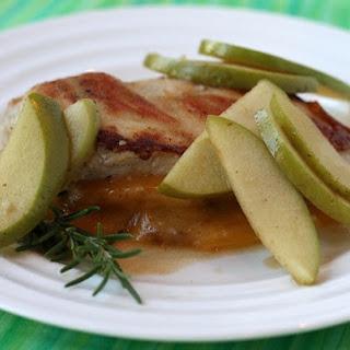 Gouda- Stuffed Chicken w/ Apple Pan Sauce