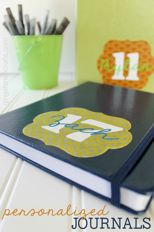 personalized journals at GingerSnapCrafts.com #wermemorykeepers #lifestylestudios #giftidea #personalized #diecuts #spon