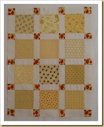 Claudia doll quilt top
