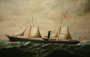 Vapor GOYA. Cuadro del Museo Marítimo Ría de Bilbao donado por Mac Andrew Bilbao. Foto cedida por el Sr.Juan Mª Rekalde. Nuestro agradecimiento.bmp