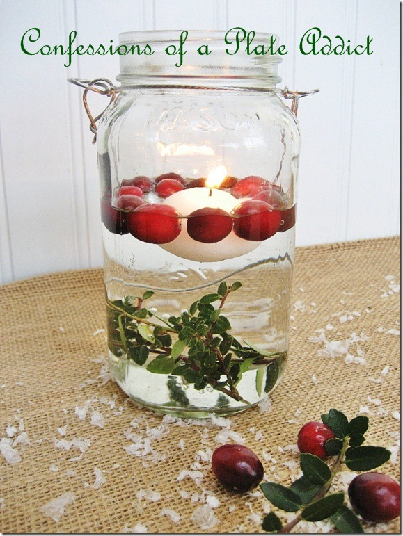 CONFESSIONS OF A PLATE ADDICT Mason Jar Christmas Candles3