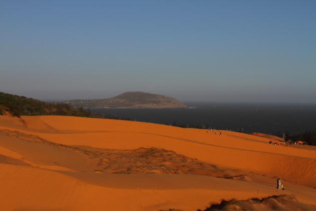Red Sand Dunes next to the South China Sea