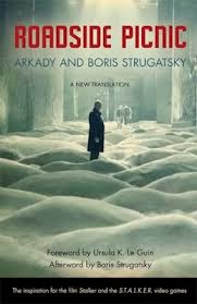 Cover the Roadside Picnic, a novel by Arkady and Boris Strugatsky.
