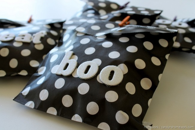 Black, White & Glitter Halloween Treat Bags via homework - carolynshomework (8)