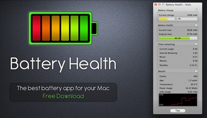 Free MacBook Battery Monitor App